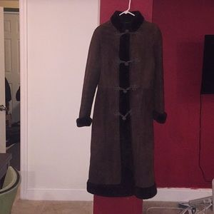 Jackets & Blazers - Luscious Brown Vegan Suede Winter Coat